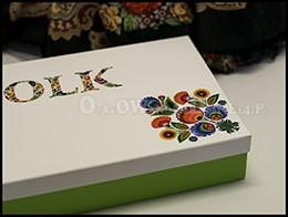 Pudełko ozdobne z logo