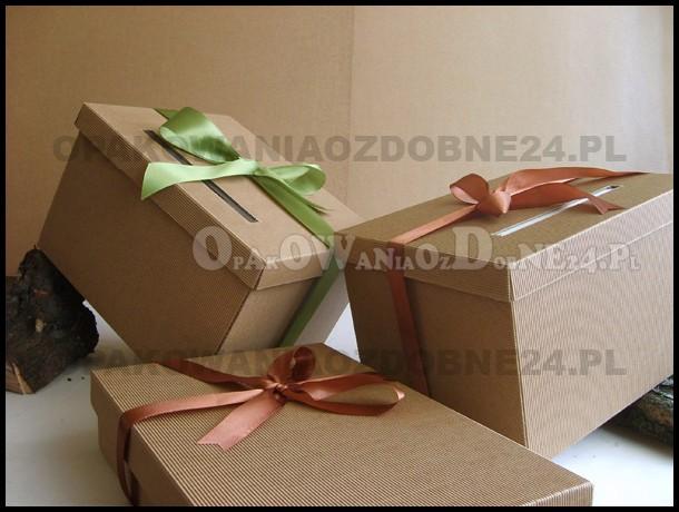 Pudełka eko, pudełka na koperty, pudełko na koperty, ślub