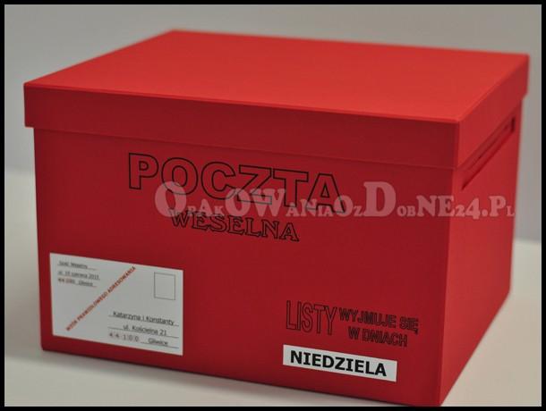 Pudełko na koperty, pudełka na koperty ślubne, Poczta Weselna